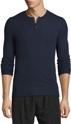 ATM Anthony Thomas Melillo Ribbed Modal Henley T-Shirt