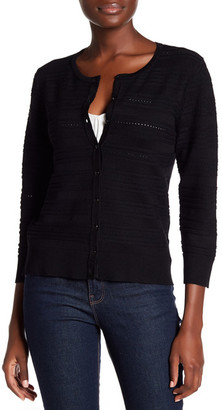 Cable & Gauge Ribbed Pointelle Knit Cardigan $60 thestylecure.com