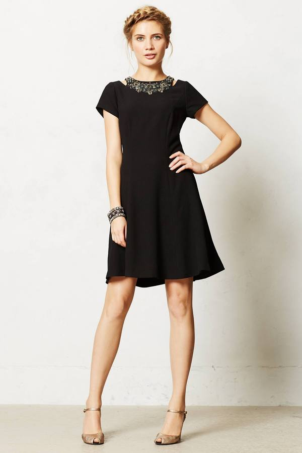 Anthropologie Jeweled Zenith Dress