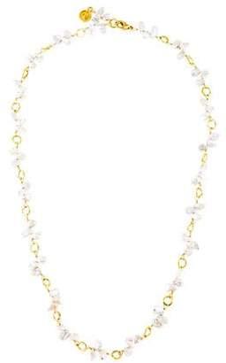 Dominique Cohen 18K Pearl Bead Strand Necklace