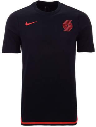 Nike Men Portland Trail Blazers City Edition Shooting T-Shirt