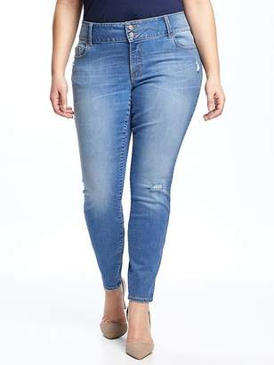 Old Navy High-Rise Built-In Sculpt Plus-Size Distressed Rockstar Jeans