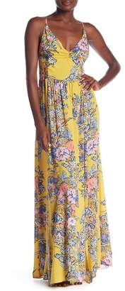 Free People Through The Vine Patterned Maxi Slip Dress