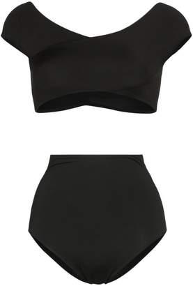 f9f71b023d990 Alessandra Rich cap sleeve high-waisted bikini set