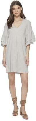 Lucky Brand Stripe Ruffle Mini Dress Women's Dress