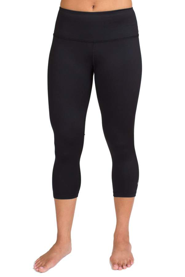 Inner Fire Solid Capri Yoga Pants, Extra-Small