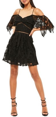 Women's Stone Cold Fox Off The Shoulder Lace Skater Dress $134 thestylecure.com