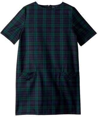 Oscar de la Renta Childrenswear Short Sleeve Shift Plaid Dress Girl's Dress
