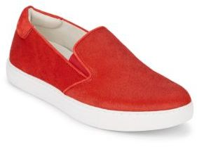 King Calf Hair Slip-On Sneakers $120 thestylecure.com