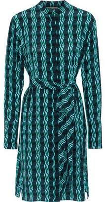 Diane von Furstenberg Printed Silk Crepe De Chine Shirt Dress