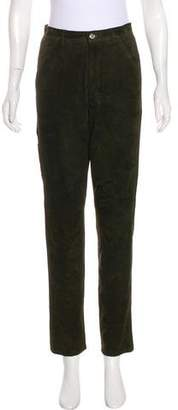 Ralph Lauren High-Rise Suede Leather Pants