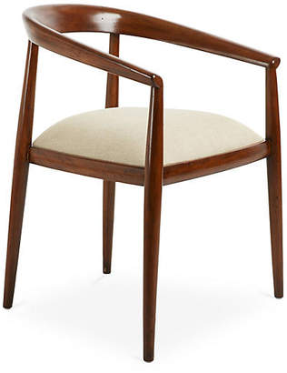 French Heritage Solange Armchair - Natural Linen