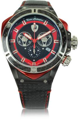 Lamborghini Tonino Black Stainless Steel and Carbon Fiber Spyder Chronograph Watch