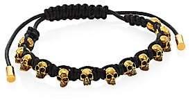 Alexander McQueen Men's Skull Leather Corded Bracelet
