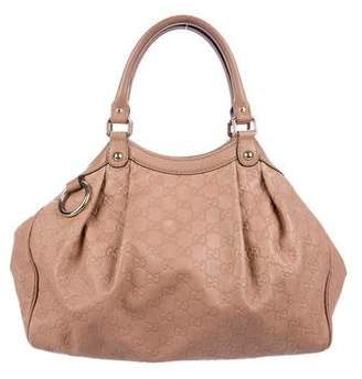 Pre Owned At Therealreal Gucci Medium Guccissima Sukey Tote