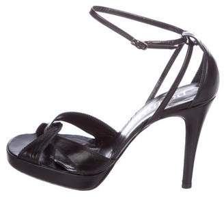 Pedro Garcia Leather Ankle Strap Sandals
