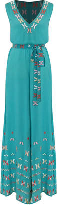 Farah All Things Mochi Embroidered Cotton Jumpsuit