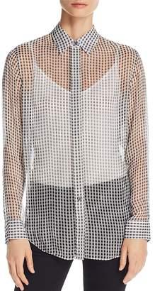 Theory Essential Sheer Silk Shirt