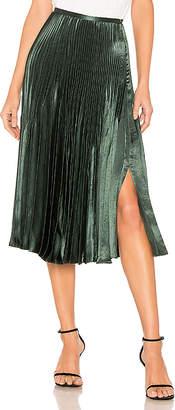 Vince Chevron Pleated Skirt