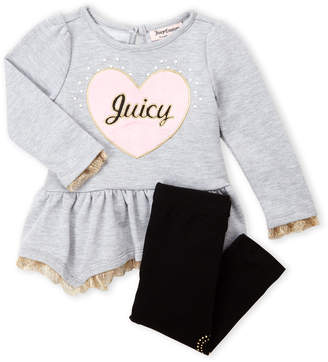Juicy Couture Infant Girls) Two-Piece Heart Tunic & Leggings Set