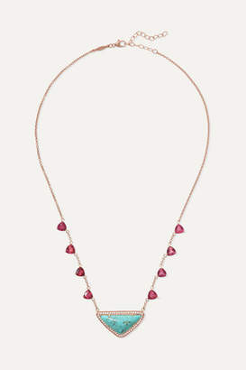 Jacquie Aiche 14-karat Rose Gold Multi-stone Necklace