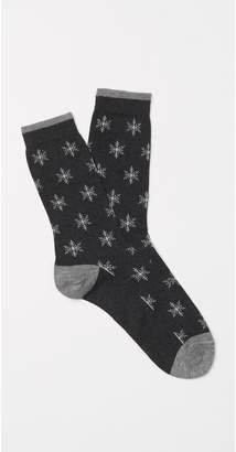 J.Mclaughlin Women's Snowflake Socks