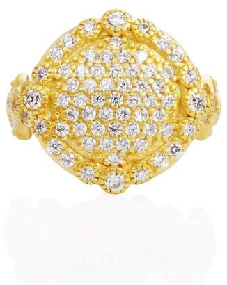 Freida Rothman The Standards 14K Yellow Gold Plated Sterling Silver Pave CZ Cocktail Ring