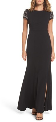 Women's Adrianna Papell Embellished Crepe Gown $219 thestylecure.com