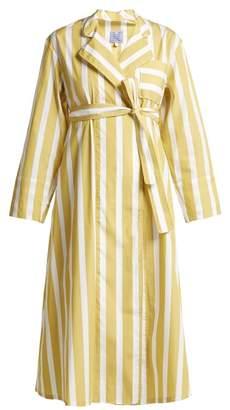 Thierry Colson Sasha Striped Cotton Poplin Dress - Womens - Yellow Multi