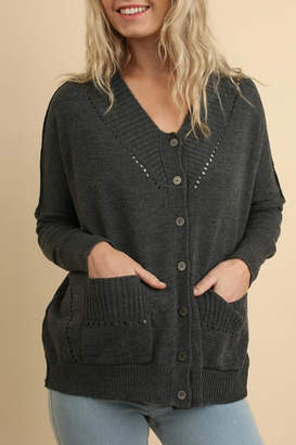 Umgee USA Button-Up Cardigan Sweater