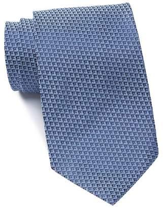 Ermenegildo Zegna Silk Diamond Grid Tie