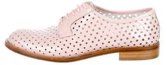 Del Toro Perforated Patent Leather Oxfords