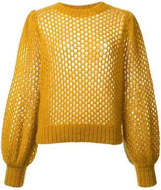 Zimmermann mesh detail sweater