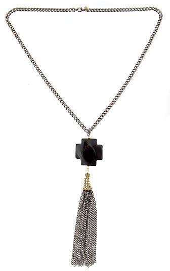 Michelle Roy Tassel Cross Necklace