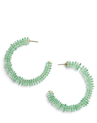 BaubleBar Crystal Hoop Earrings