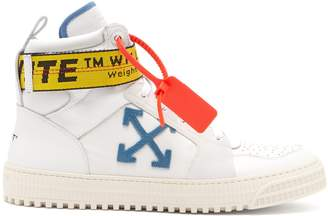 Off-White Industrial leather high-top trainers