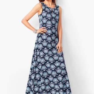 Talbots Knit Jersey Maxi Dress - Floral
