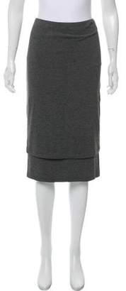 Donna Karan Layered Knee-Length Skirt