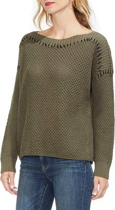 Vince Camuto Contrast Stitch Sweater