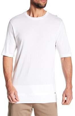 Helmut Lang Cut Hem Short Sleeve Shirt