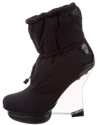 98285c61b3af Pre-Owned at TheRealReal · Y-3 Round-Toe Wedge Boots