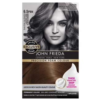 John Frieda Precision Foam Colour 6.5PBN Lightest Cool Almond Brown 1 pack