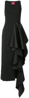 SOLACE London draped side asymmetric dress