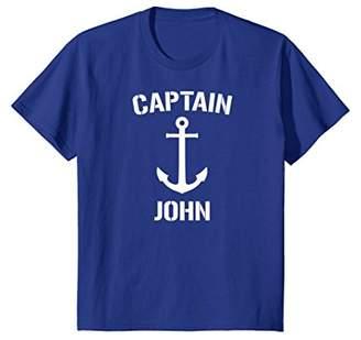 Nautical Captain John Personalized Boat Anchor T-Shirt