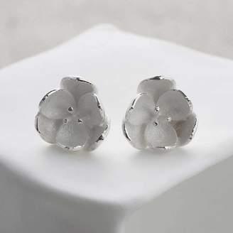 Martha Jackson Sterling Silver Silver Blossom Stud Earrings