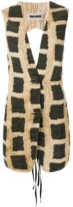 Uma Wang checked vest