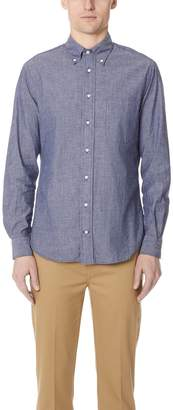 Gitman Brothers Long Sleeve Blue Chambray Shirt