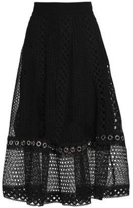 Maje Broderie Anglaise Midi Skirt