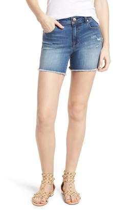 1822 Denim Fray Hem Denim Shorts