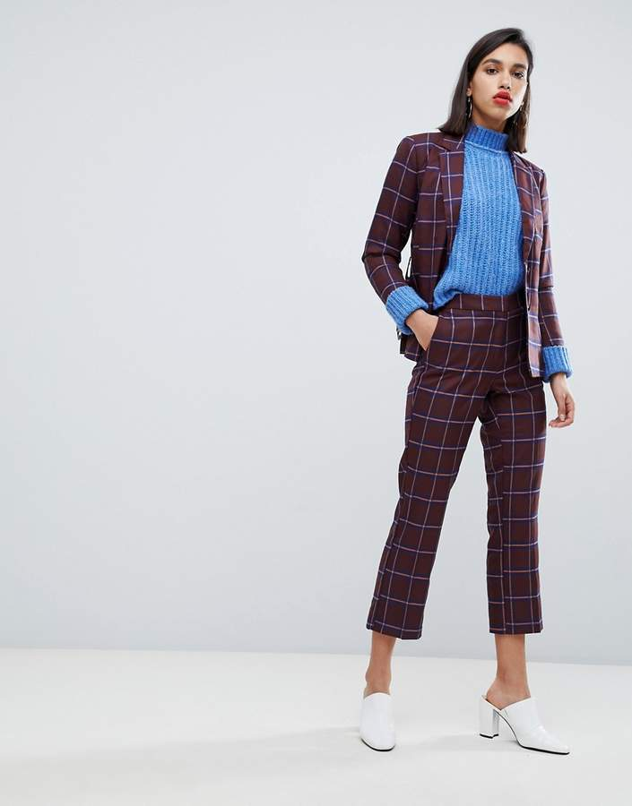 Y.A.S Check Crop Trousers Ord